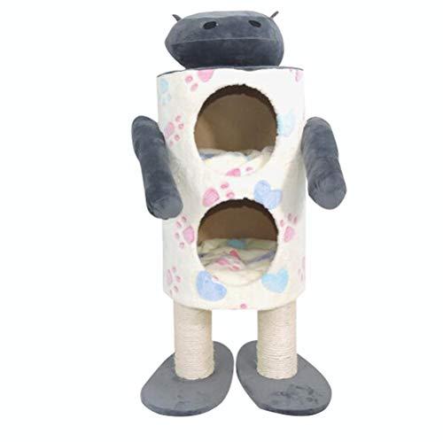 YAMEIJIA Robot kat klimmen frame kat nest kat speelgoed sisal kat krassen kolom kat benodigdheden.