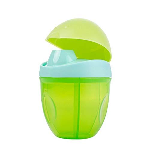 Milchpulver-Spender, Milchpulver - Portionierer mit 3 Fächern Milchpulverspender Milchpulverbox, Milchpulverportionierer, Pinguin grün