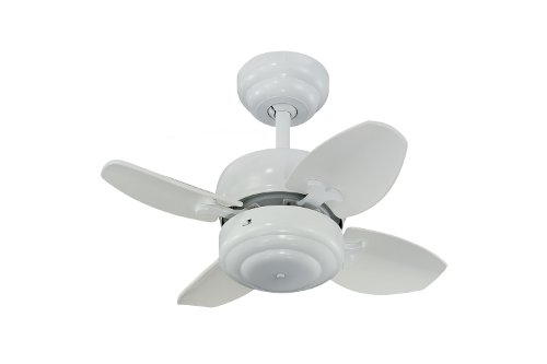 Monte Carlo 4MC20WH Mini 20' Ceiling Fan with Pull Chain for Small Space, 4 Blades, White