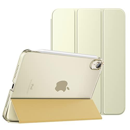 MoKo Schützhülle Kompatibel mit Neu iPad Mini 6 8,3 Zoll 2021 - iPad Mini 6. Generation Schutzhülle mit Trifold Ansichtsständer Auto Schlaf/Aufwach Intelligente Hülle Ständer Cover, Champagner Gold