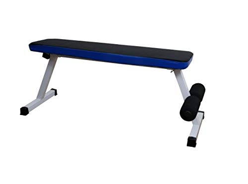 ALLYSON FITNESS Foldable Flat Bench- Up to 500 kg Capacity Tested for Strength Training Multipurpose Fitness Exercise Gym Workout, Heavy Duty Weight Flat Bench for Home & Gym(Blue)