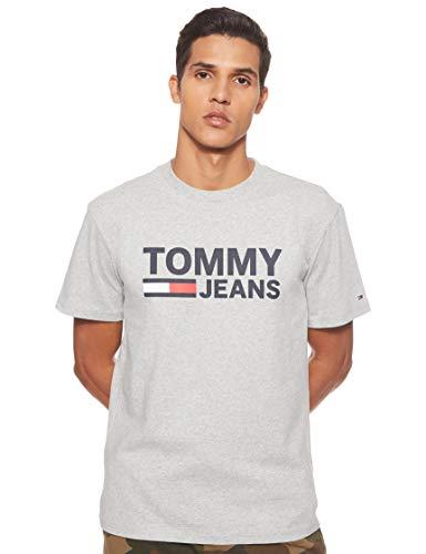 Tommy Hilfiger TJM Tommy Classics Logo tee Camisa, Gris (Lt Grey Htr 038), Large para Hombre