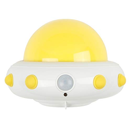 UFO LED Nachtlichtje Kinderen Baby PIR Sensor Zuigeling Voeden Slaap Lamp Draadloze Afgelegen Controle Dimmer Licht Plug Lamp