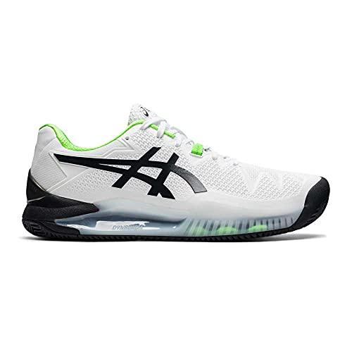 ASICS Gel-Resolution 8 Clay, Zapatillas de Running Hombre, White Green Gecko, 42.5 EU