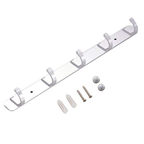 argento mDesign Set da 2 Appendiabiti da muro cravatte e cappelli Appendino ideale per cinture 8 ganci attaccapanni con un ripiano portaoggetti ciascuno