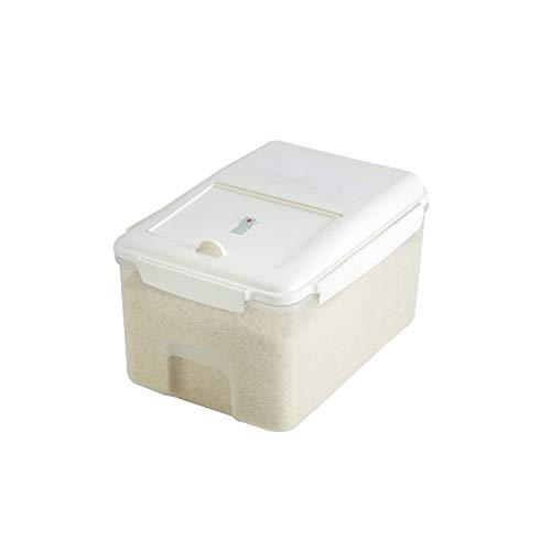 YUMEIGE Caja de almacenamiento de cosméticos Caja de arroz Cubo de arroz para el hogar A prueba de insectos y cubo sellado a prueba de humedad, 20 kg Tanque de almacenamiento, Caja de almacenamiento d