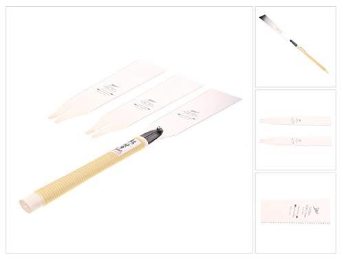 Shogun RYOBA Japansäge Universal Holz Zugsäge langer Griff (MC-2424H) Klinge 240 mm + 2x RYOBA Japan Holzsägeblatt - Made in Japan