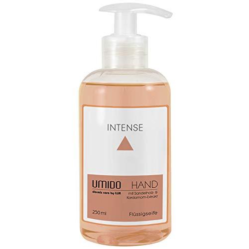 UMIDO Flüssig-Seife Spender 250 ml Kardamom-Extrakt & Sandelholz-Extrakt | ohne Parabende | Seife aus dem Pumpspender | Handseife für Pflege & Hygiene | Pflegeseife | Handwaschseife