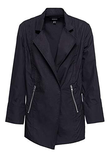 Mexx Damen Leichte Jacke Mit Asymmetrischem Verschluss V Ausschnitt Langarm Cargojacke Abgesteppt