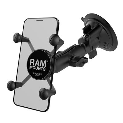 Ram Mount Twist Lock Suction Cup Mount with Universal X-Grip Cell Phone Holder