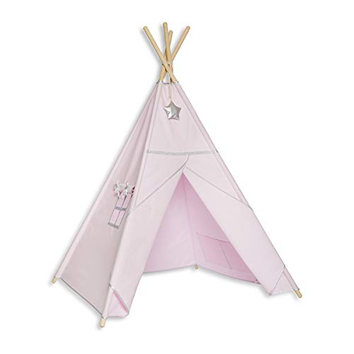 Fun with mum TEE-TEN-SIL-PIN Tipi tent - Silver Pink
