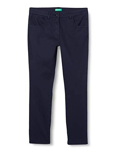 United Colors of Benetton Mädchen Pantalone Hose, Blau (Peacoat 252), 104 (Herstellergröße: XX)