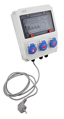 EDENEA - Coffret Electrique Piscine Sur Prises - Pompe Filtration Robot Piscine Projecteur LED - Protection 30mA - Horloge - Idéal Pour Piscine Hors Sol