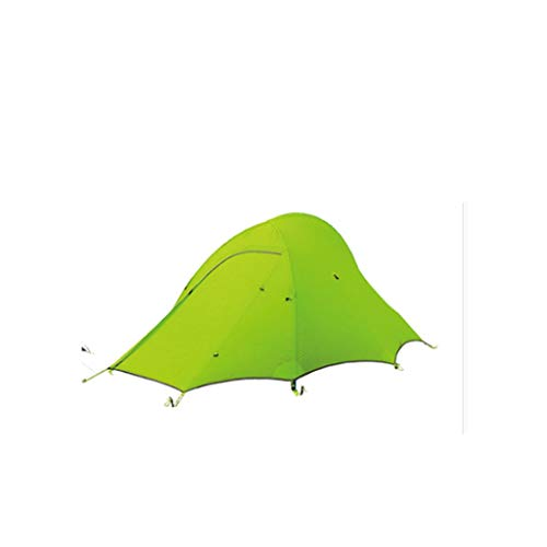 Tents Ultralight Camping Tent 2 Person Easy Set Up Double Layer Waterproof Fish Shape Design Tent for Hiking Cycling Outdoor Tent (Color : Green)