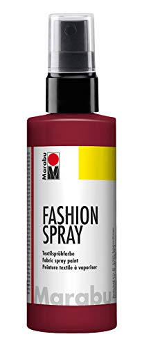 Marabu - Vernice per Stoffa con erogatore Spray, 100 ml, Color Bordeaux