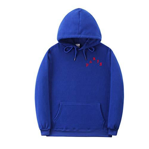 YuanDian Herren Damen Herbst Winter I Feel Like Pablo Hoodie Kapuzenpullover Plus Samtfutter Warm Weich Langarm Pullover Sweatshirts Sport Casual Pullis Top Sweater Blau 1# L
