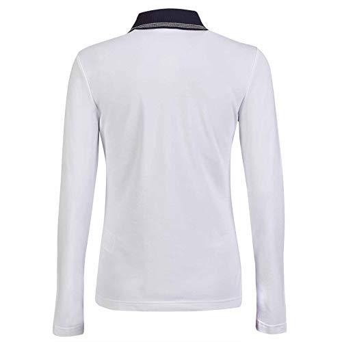 GOLFINO Revolution UV Pique Zip Polo Damen weiß 42