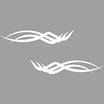 Aufkleber Tattoo Tribal 45cm rot Arschgeweih Auto Motorrad Racing Deko Folie