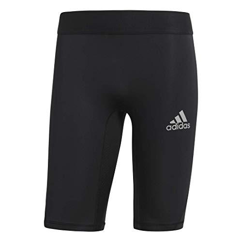 adidas Men's Soccer Alphaskin Compression Shorts Tight (Medium) Black