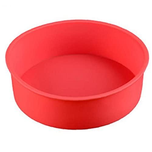 Onsinic Torta del Silicone 24 * 5cm Forma Rotonda della Muffa di Cottura Casse della Focaccina Fodera del Bigné della Vaschetta di Cottura Torte Bakeware della Muffa