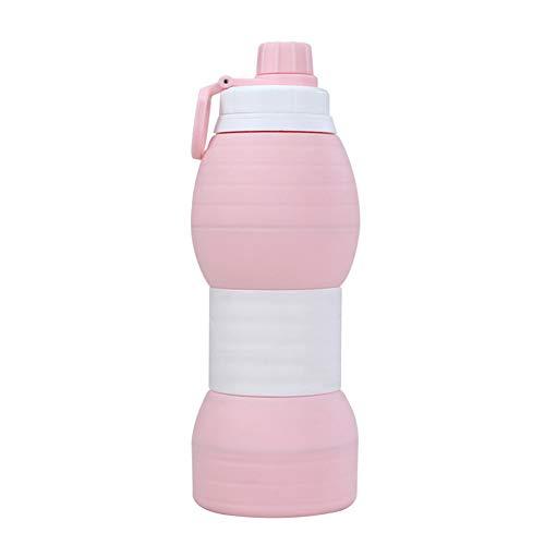 Bottiglia Per L'Acqua Bambini Senza Bpa Coppa Pieghevole Resistente Alla Caduta Borraccia Sport Per Bambini Scuola Campeggio Ciclismo pink,600ml