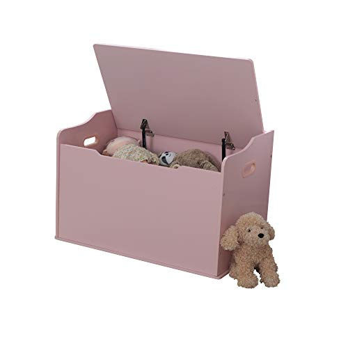 KidKraft Austin Baúl con Tapa para almacenaje de Juguetes de Madera, Muebles para Salas de Juego y Dormitorio de niños, Rosa , color/modelo surtido