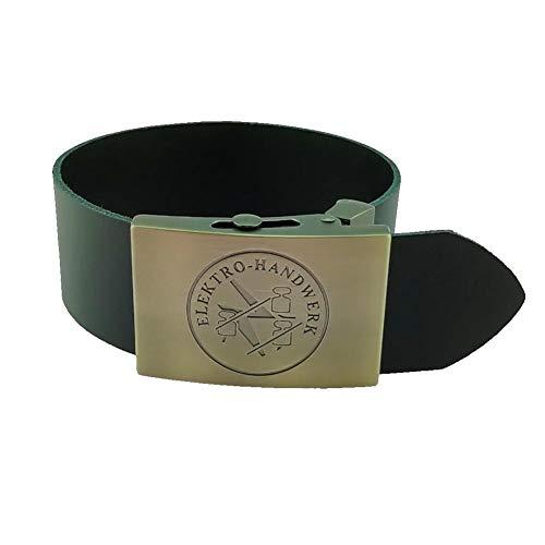 Gravurmanufaktur Hosengürtel Elektriker Elektro-Handwerk und Zunftzeichen (Leder)