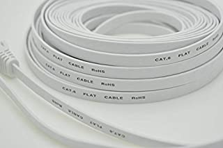 Computer Cables & Connectors - 30m 50m flat UTP CAT6 Network Cable Computer Cable Gigabit Ethernet Patch Cord RJ45 Adapter...