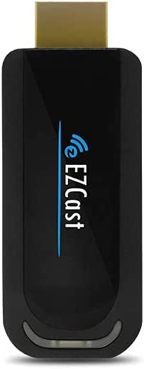 EZCast Wi-Fi Display Dongle 5G, Full HD 1080P, Miracast/DLNA/Airplay Support, iOS/Android/macOS/Windows Support, OTA Updates, Easily Setup (Renewed)