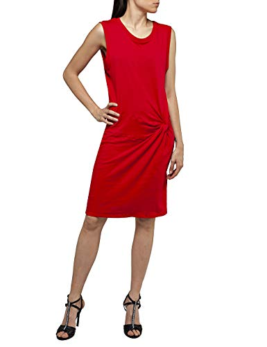 Replay Damen W9273 .000.22830G Kleid, Rot (Lipstick Red 665), Large (Herstellergröße: L)