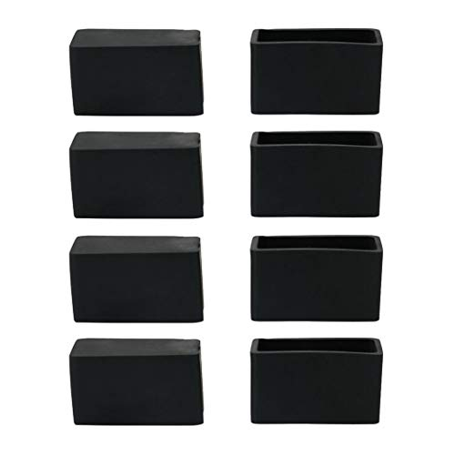 Sourcingmap Rubber Chair Leg Caps End Pad Feet Cover Furniture Slider Floor Protector 8pcs 0.79' x 1.57'(20x40mm) Inner Size, Reduce Noise Prevent Scratch