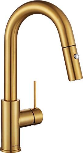 AguaStella AS59BG Brushed Gold Bar Kitchen Sink Faucet