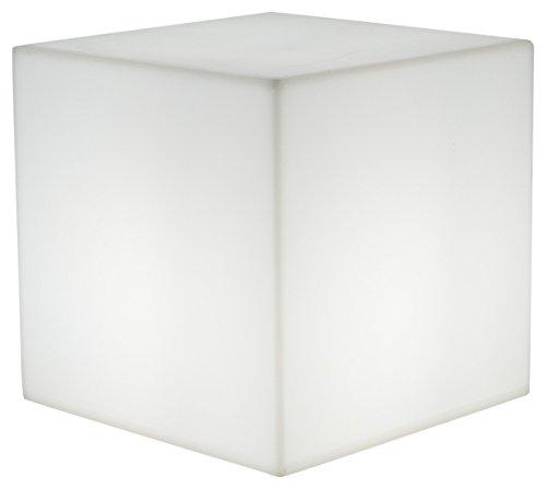 Lumisky 303114 - Lámpara portátil (40 x 40 x 40 cm, E27), diseño de Cubo, Color Blanco