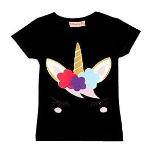 Girls Emoji Dabbing Unicorn T-Shirt Tee Top Stars Eyelashes New Age 3-14 Years