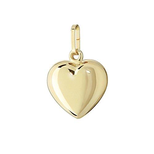 NKlaus 585 Gold gelbgold Herz Anhänger Ketten hochglanzpoliert 10,5x10mm Damen Mädchen 4761