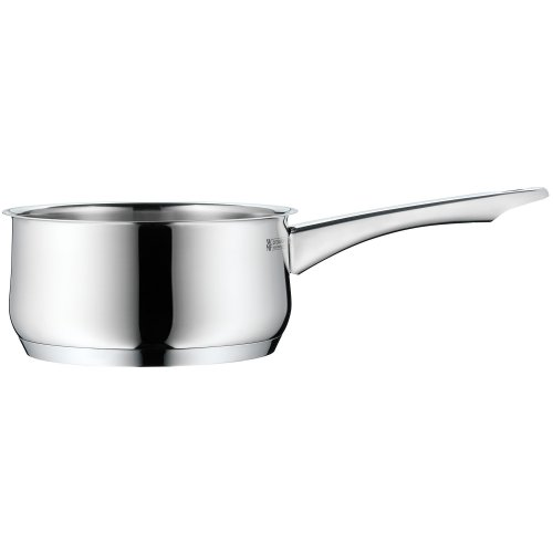 WMF Collier Stielkasserolle, ohne Deckel, Ø 16 cm, Cromargan Edelstahl poliert, Schüttrand, induktionsgeeignet, spülmaschinengeeignet