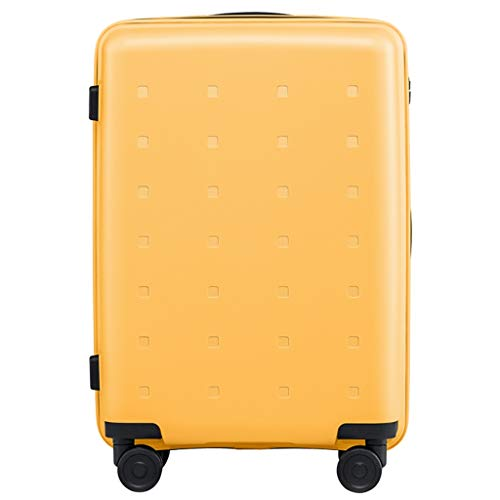 LLRDIAN Super Lightweight Hard Shell Travel Carry On Cabin Hand Luggage Suitcase with 4 Wheels, Boarding The Chassis Universal Wheel Trolley case (Color : Yellow, Size : 36×21.5×60cm)