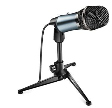 Petyoung USB Ricaricabile Riduzione del Rumore del Microfono A Condensatore PC Microfoni Cardioide con Treppiede Regolabile per Il Gioco Studio in Diretta Streaming Registrazione Video