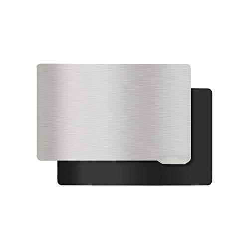KOYOFEI Piattaforma per stampante 3D in resina, piastra di costruzione e lamiera magnetica, pannelli flessibili in acciaio per stampante 3D ELEGOO Saturn 196 x 126 mm