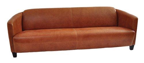 Clubsofa Rocket 4-Sitzer Vintage Leder, hell Columbia Brown Echtleder Sofa Couch