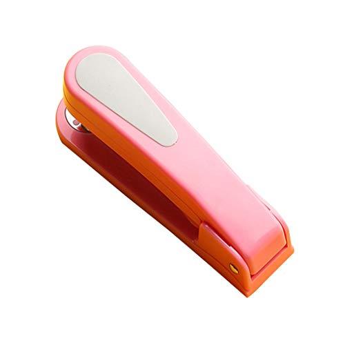 XIAOSAKU Grapadoras para Escritorio Rotary Grapadora,del Rosa de la Grapadora,Simple Grapadora de Escritorio,Papel de la Escuela,Multifuncional(Gratis 5 Cajas de Grapas) Grapadoras Manuales