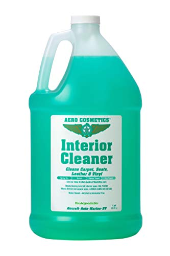 Interior Cleaner, Carpet Cleaner, Seat Cleaner, Fabric Cleaner, Cleans Carpets, Seats, Leather, Upholstery and Vinyl, Aircraft Quality for your Car Boat RV Meets Boeing and Airbus Specs 1 Gallon