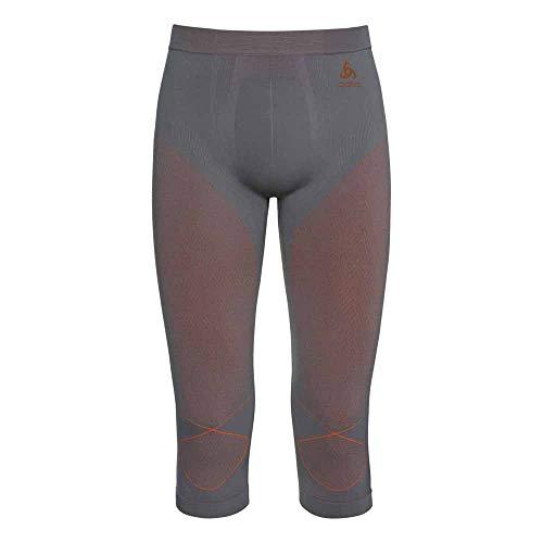 Odlo Herren Evolution WARM 3/4 Pants, Steel Grey/Orangeade, XXL
