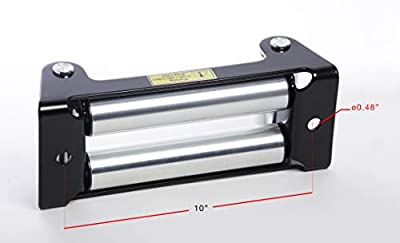 "HiGear Heavy Duty ALFA Wheels 10"" Winch Roller Fairlead - 8000-17,500 LB for Recovery Off Road Truck"