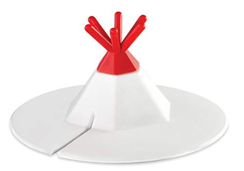 Tapa de taza de té para bolsas de té – Tapa de silicona universal para tazas de té con ranura en la cubierta para bolsitas de té – Decoración en forma de tipi – Los...