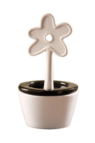 WENKO 52589100 Luftbefeuchter Blumentopf - konischer Keramik-Verdunster, Keramik, 8.5 x 16 x 8.5 cm, Weiß