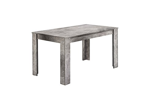 Homexperts Tisch, Beton-Optik, 140 x 80 cm