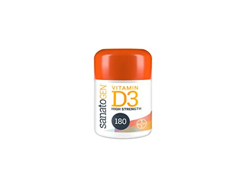Sanatogen Vitamin D3 3000 IU. 180 Easy to take High Strength One-a-day Tablets. D3 Helps to Support your Immune System, your Body's Natural Defender. 6 Months Supply for Men & Women