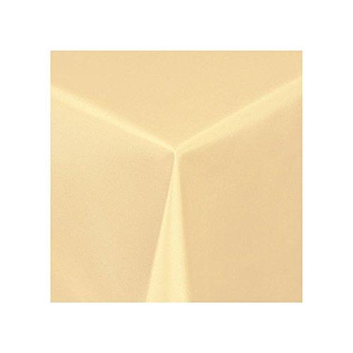 MODERNO Tischdecke Damast eckig 130x220 cm Vollzwirn 100% Baumwolle mit Atlaskante in Beige, Gastro BZW. Hotel Qualität, Größe wählbar