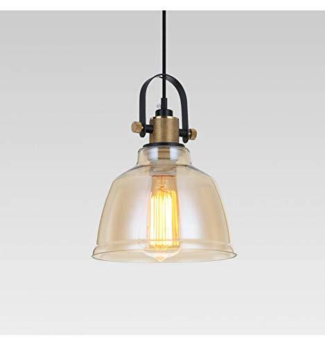 Suspendu Lampe verre ambre gris clair suspendu lampe éclairage navette plafonnier rétro